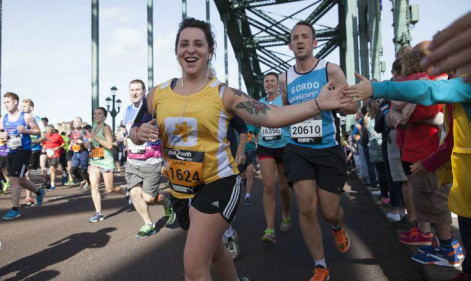 Raising funds for Marie Curie in the Virtual Great North Run